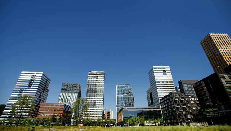 Zakendistrict de Zuidas in Amsterdam. Beeld ANP