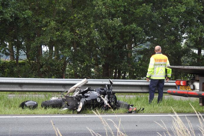 Motorrijder gewond op A2.