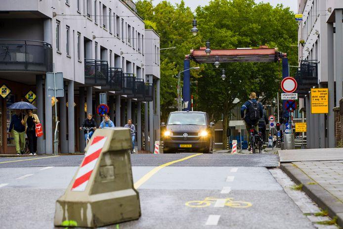 De afzetting bij de Van Berckelstraat in Den Bosch zoals het nu is.