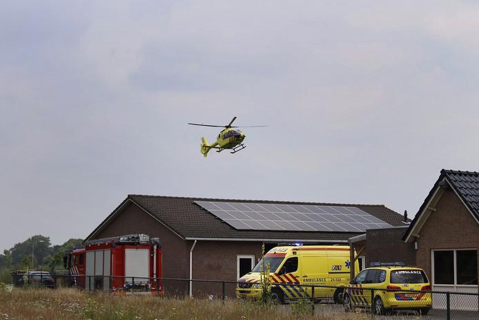 Veel hulpdiensten kwamen op het ongeluk af