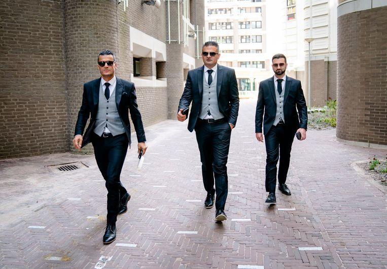 Farid Azarkan, Tunahan Kuzu en Stephan van Baarle van Denk.  Beeld Hollandse Hoogte /  ANP