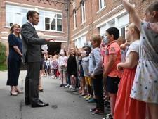"""Un écolier à Macron: """"Ça va la claque que tu t'es prise?"""""""