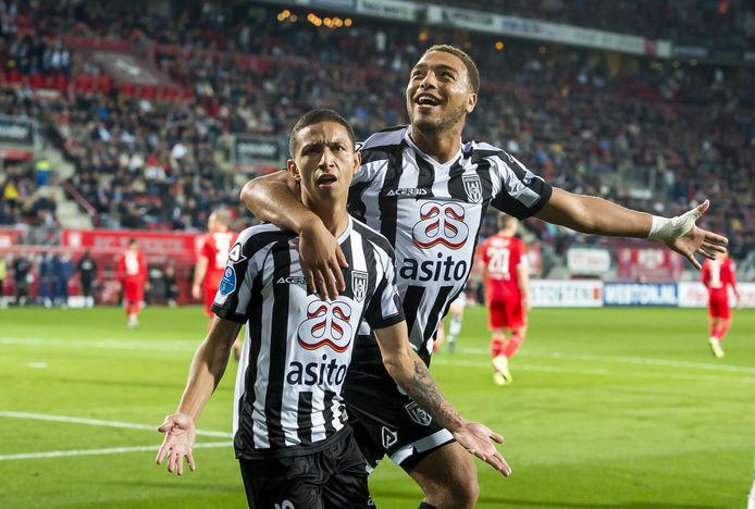 Mauro Junior en Cyriel Dessers maakten in 2019 de doelpunten voor Heracles. Twee keer de Braziliaan, een keer Dessers.
