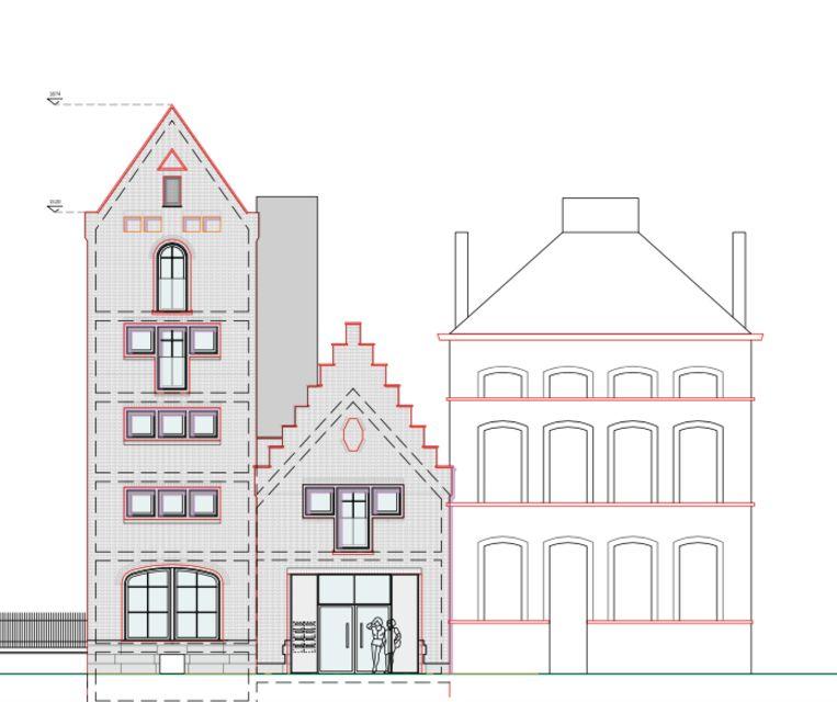 Zo moet het nieuwe project in de Vaartstraat er straks uitzien.