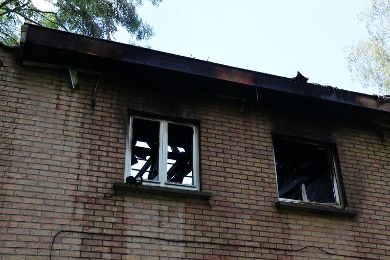 De woning is volledig vernield na de brand