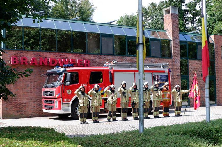 Ook de brandweer van Beerse hield een herdenking.