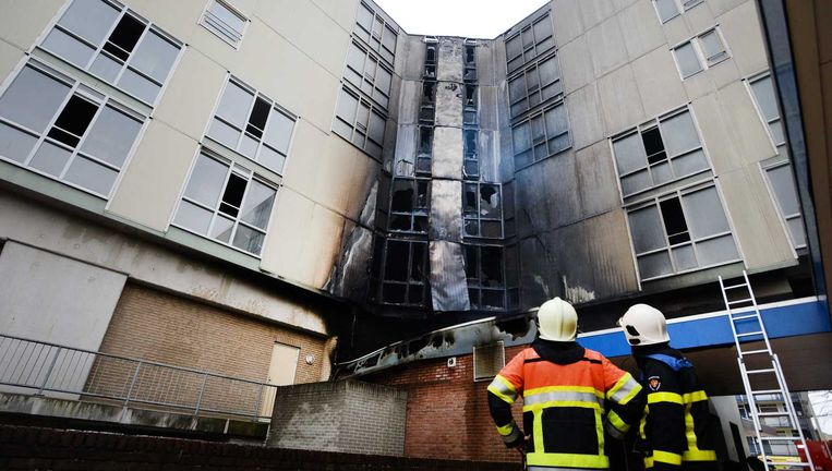 De uitgebrande seniorenflat in Nijmegen. Beeld anp
