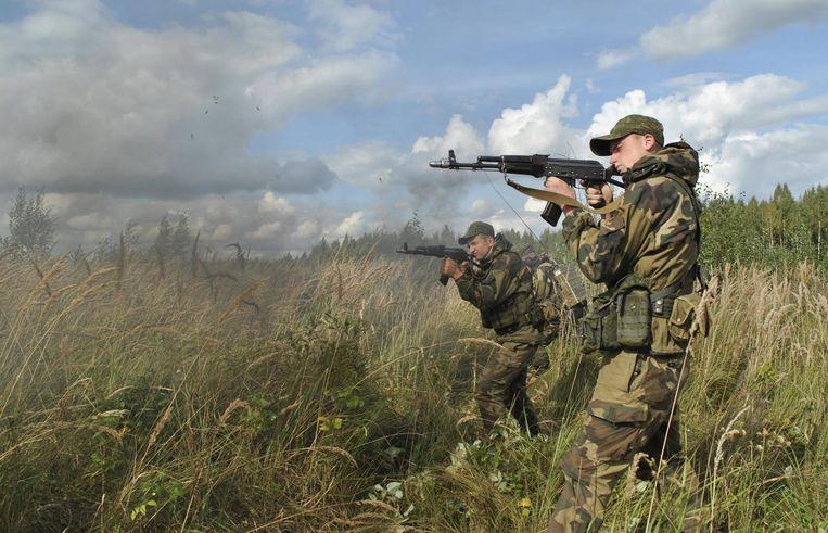 Foto van Russische militaire oefening op 18 september Beeld EPA