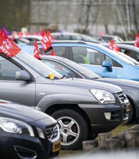 Beroepsgoederenvervoer staakt in Nieuwegein en Geldermalsen voor beter cao