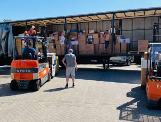 """HELPENDE HANDEN SOS Belgium - Klein-Brabant vult drie vrachtwagens voor Wallonië: """"Hebben al ervaring door ramp in Spanje"""""""