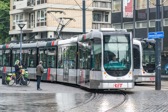 De tram.