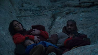 Kanye West met hele gezin in nieuwe videoclip