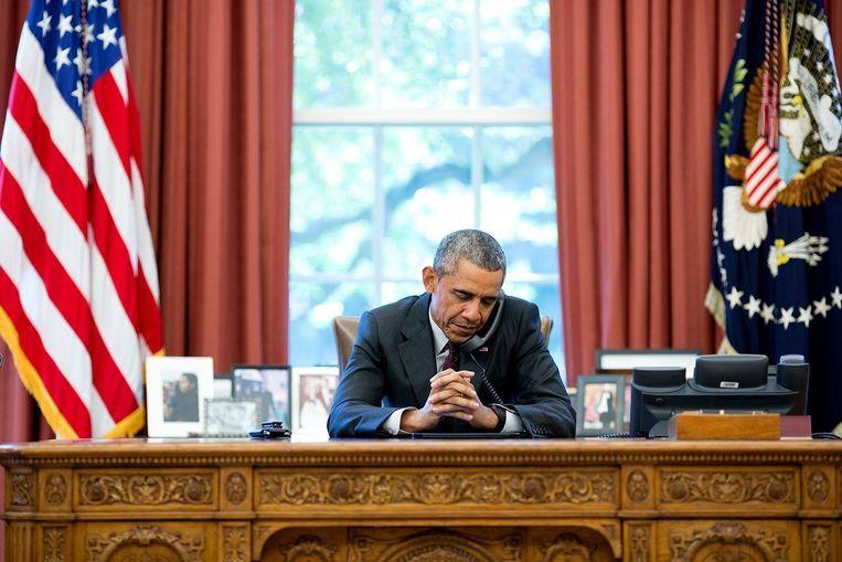 Barack Obama is erin geslaagd zijn presidentschap opvallend schandaalloos te laten verlopen. Beeld photo_news