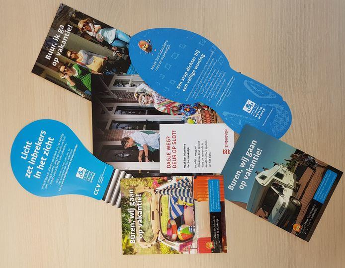 Foldermateriaal van de European Focus Day, campagne om inbraken tegen te gaan. Woensdag 19 juni start die in Eindhoven.