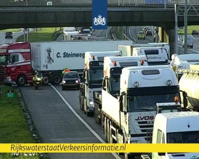 Verkeer voor de Noordtunnel wordt weggeleid