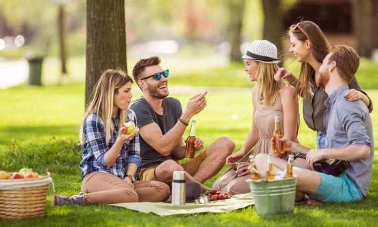 Witte reus picknick