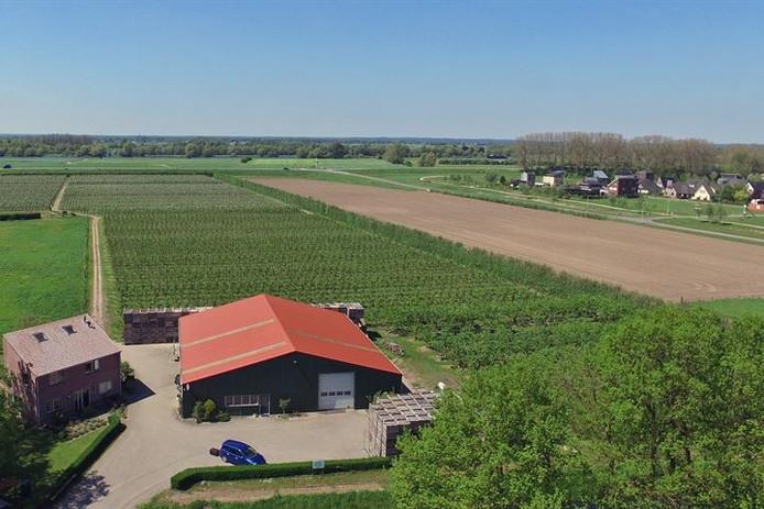 Dit gedeelte van het fruitteeltbedrijf is aangekocht door het echtpaar Hensums.
