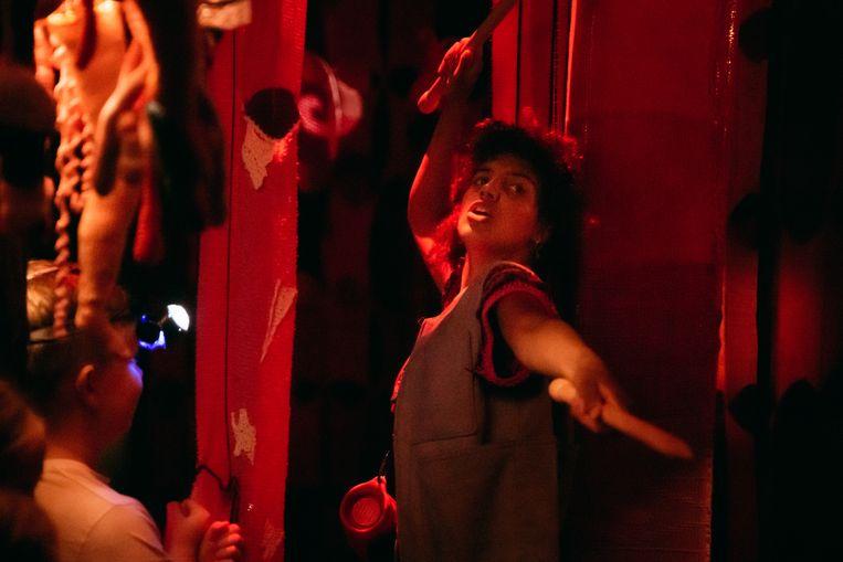 Scene uit De minotaurus, een monsterlijk labyrint van Studio Brei op Theaterfestival Boulevard Beeld Julian Maiwald