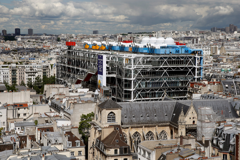 Het markante Centre Pompidou in de wijk Marais. Beeld Getty Images