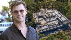 """Is het een winkelcentrum? Een parkeergarage? Nee, het is de monstervilla van Chris Hemsworth: """"Walgelijk dat ik zo rijk ben"""""""