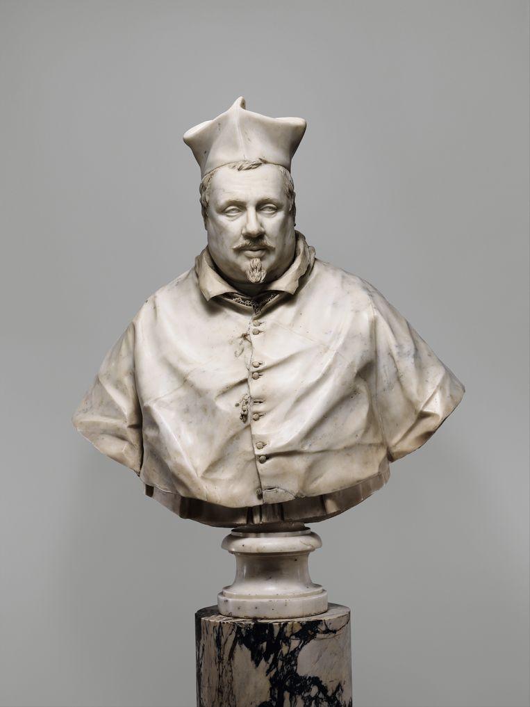 Giuliano Finelli  Karrdinaal Scipione Borghese (1577-1633)  Rome, 1632  Carrara-marmer, h. 81 cm; voetstuk: marmer, h. 18,1 cm  New York, The Metropolitan Museum of Art  Inv.nr. 53.201; aangekocht dankzij een schenking van Louisa Eldridge McBurney, 1953 Beeld The Metropolitan Museum of Art, New York