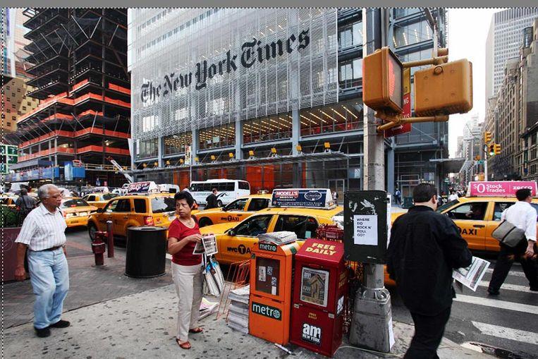 Het hoofdkantoor van The New York Times in New York (AP) Beeld