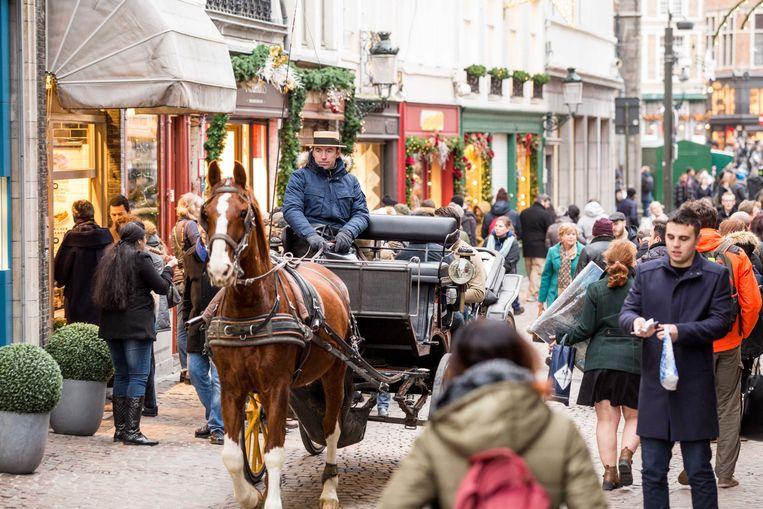 Overvolle straten in Brugge: het is een vertrouwd beeld in Brugge