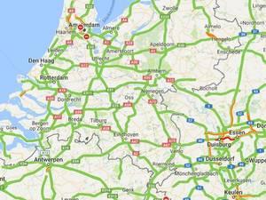De actuele verkeersdrukte in kaart