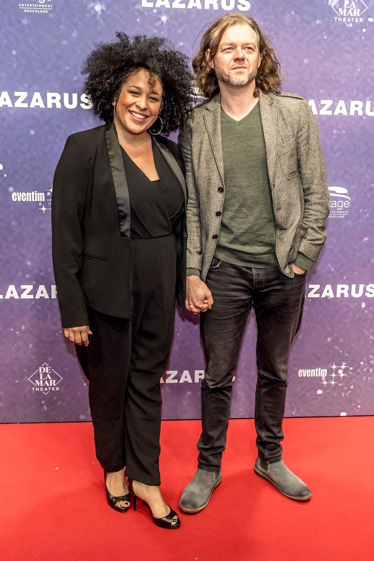 Tania Kross met partner Henkjan de Krijger. Beeld Hollandse Hoogte / Patrick Harderwijk