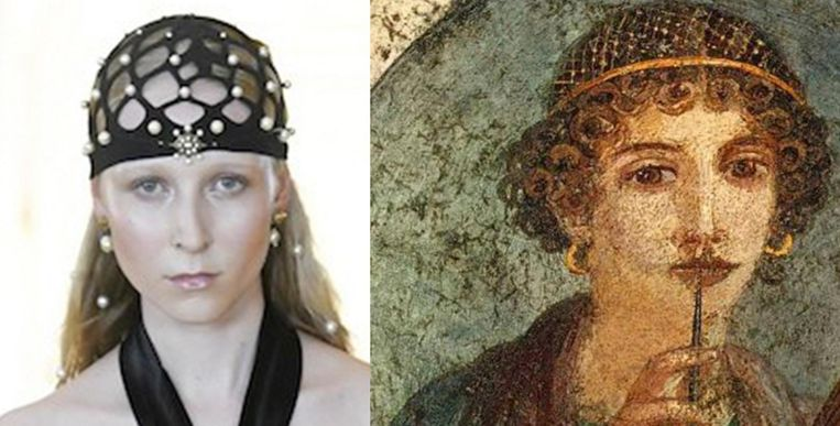 Rechts: dichteres Sappho. Beeld
