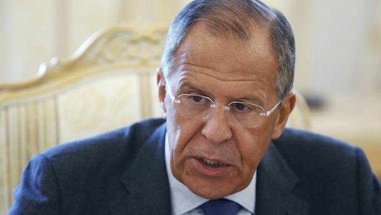 De Russische minister van Buitenlandse Zaken Sergej Lavrov Beeld reuters