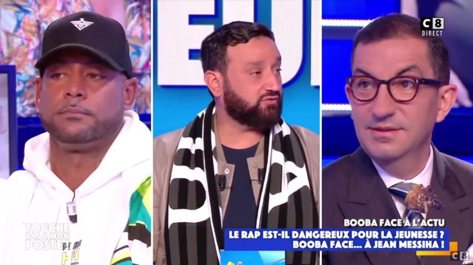 Booba (à gauche) et Jean Messiha (à droite), un débat qui a tourné court.
