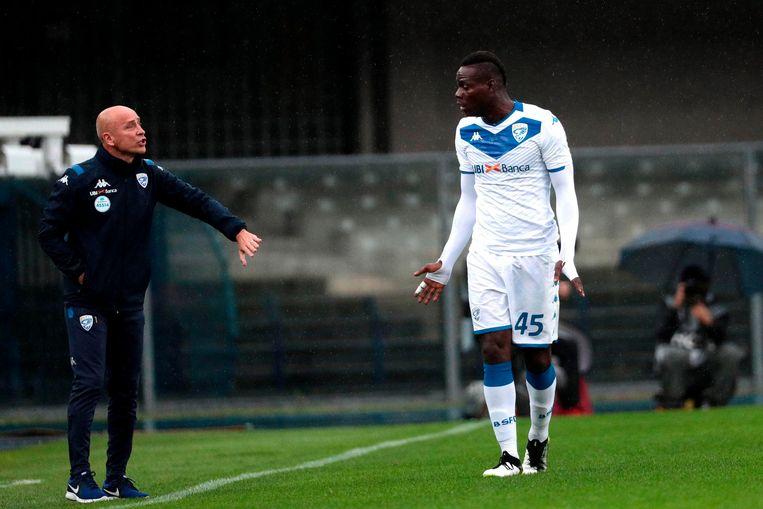 Brescia-coach Corini werd ontslagen.
