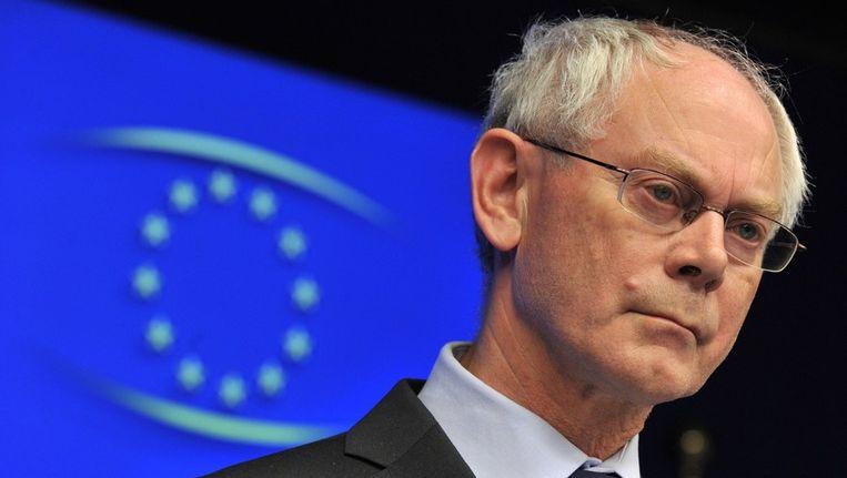 EU-president Herman Van Rompuy. Beeld afp