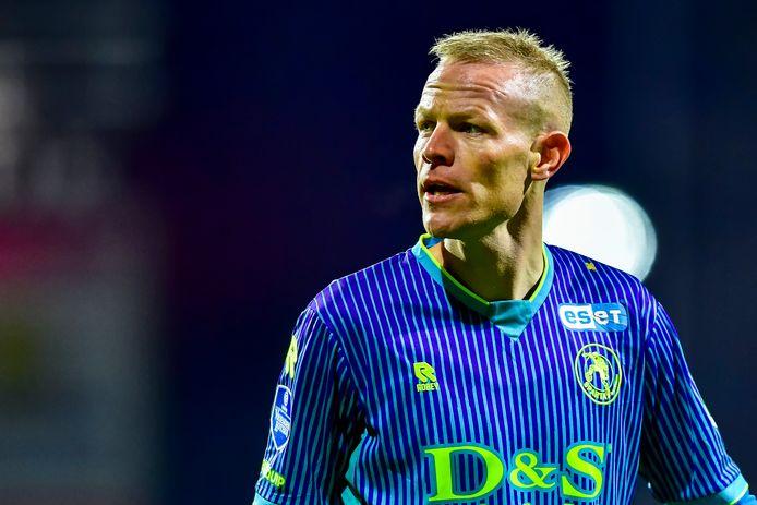 Tom Beugelsdijk tijdens het duel met FC Emmen.