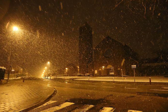 Sneeuw in Leuven.