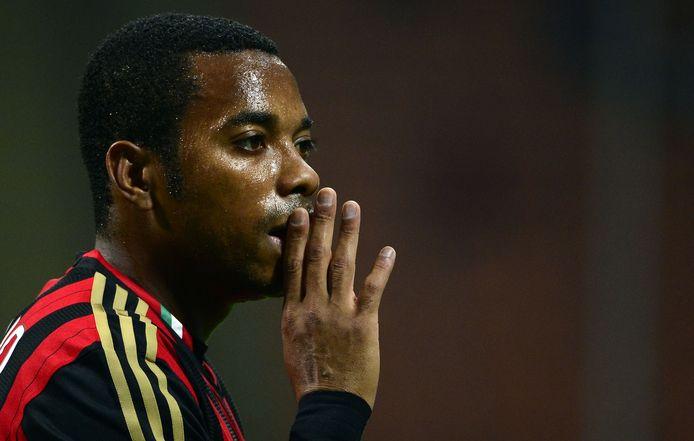 Robinho bij AC Milan in 2013, het jaar waarin hij werd veroordeeld vanwege een groepsverkrachting.