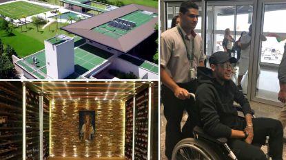 Zes slaapkamers, fitnessruimte, helipad en immense wijnkelder: in dit 'stulpje' van bijna 7 miljoen euro start Neymar zijn race tegen de WK-klok