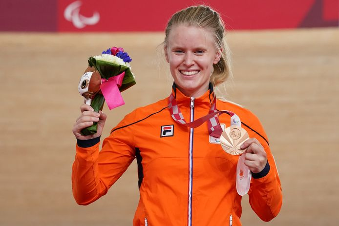Caroline Groot won brons op de 500 meter tijdrit in Tokio.