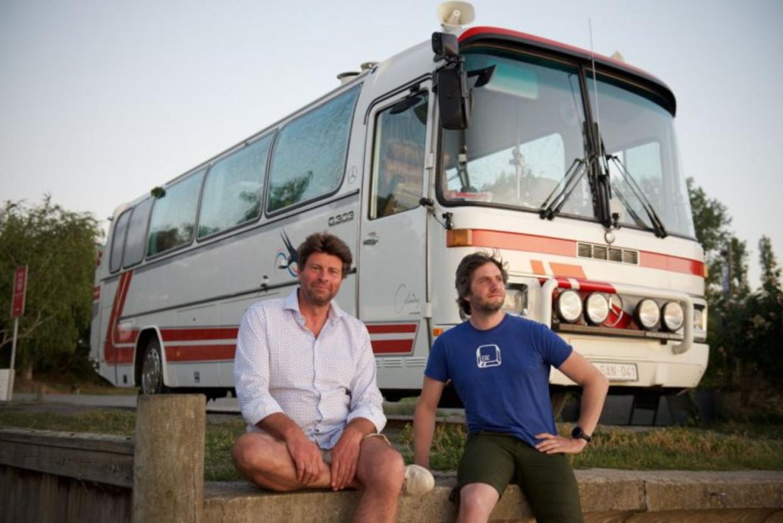 'De Colombus', met Wim Lybaert en Lieven Scheire. Beeld VRT