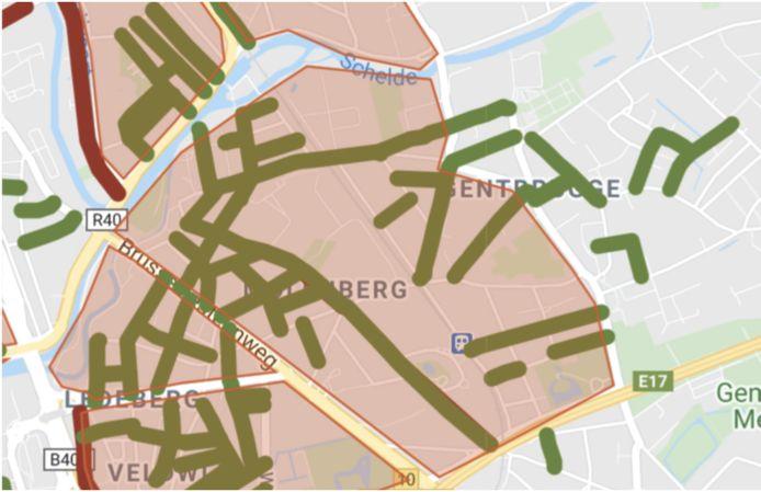 In de plannen van het GMF worden alle straten in het groen fietsstraten.