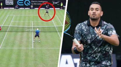 Nu doet Kyrgios ook aan onderarms 'serve and volley' en tweenerlobs (maar winnen doet hij heel wat minder)