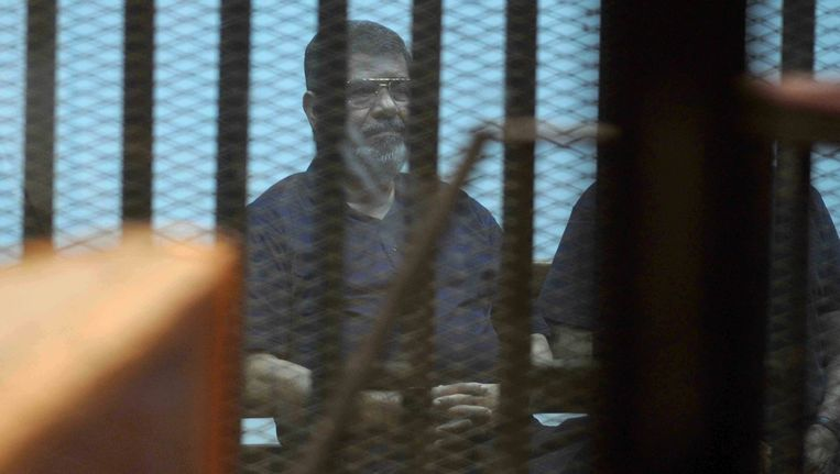 De voormalig president van Egypte, Mohammed Morsi. Beeld ap
