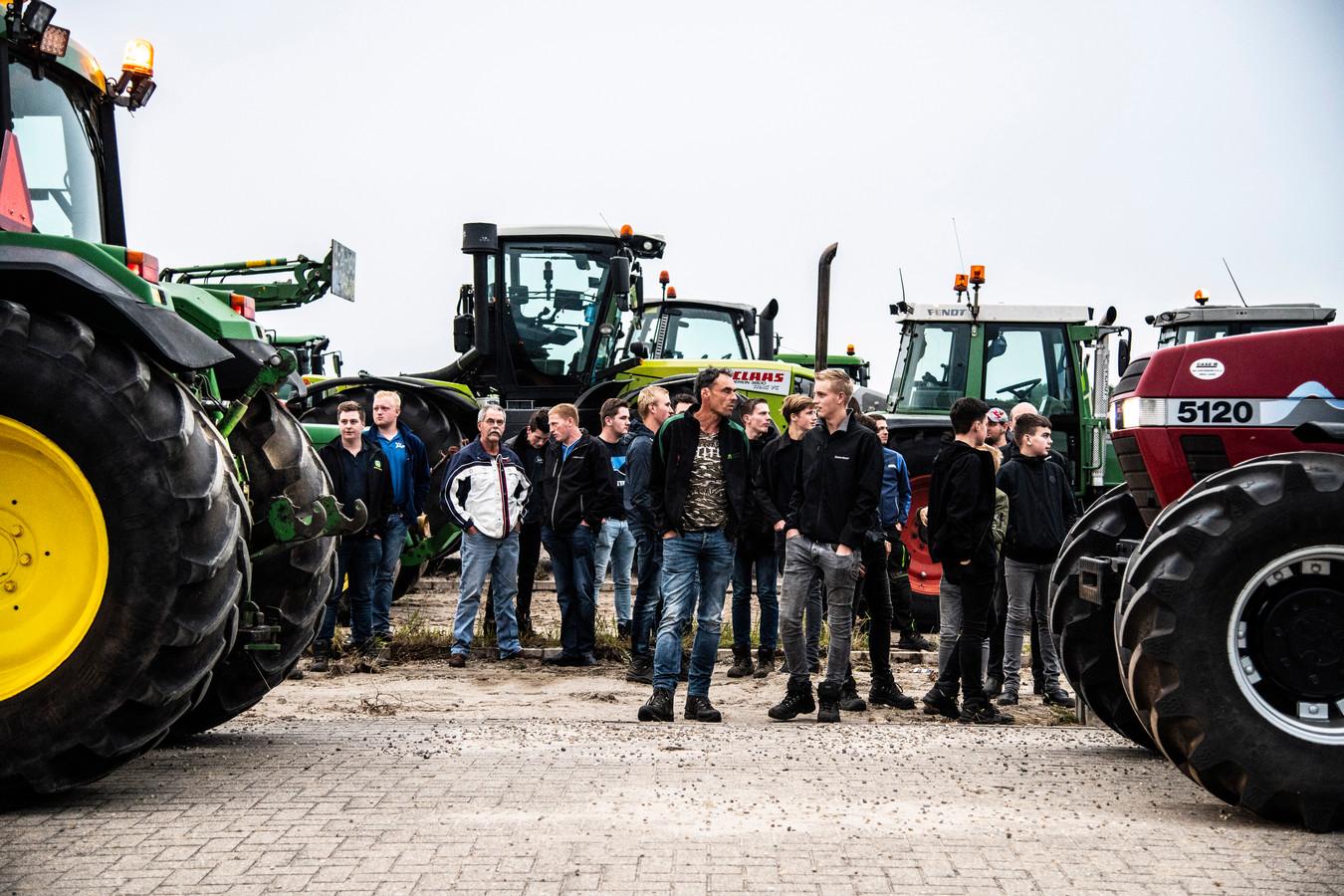 Boze boeren in actie in Nijmegen.
