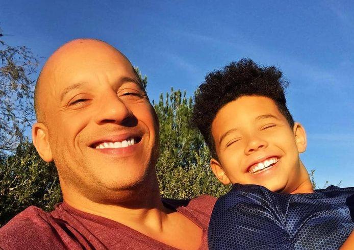 Vin Diesel en zoon Vincent