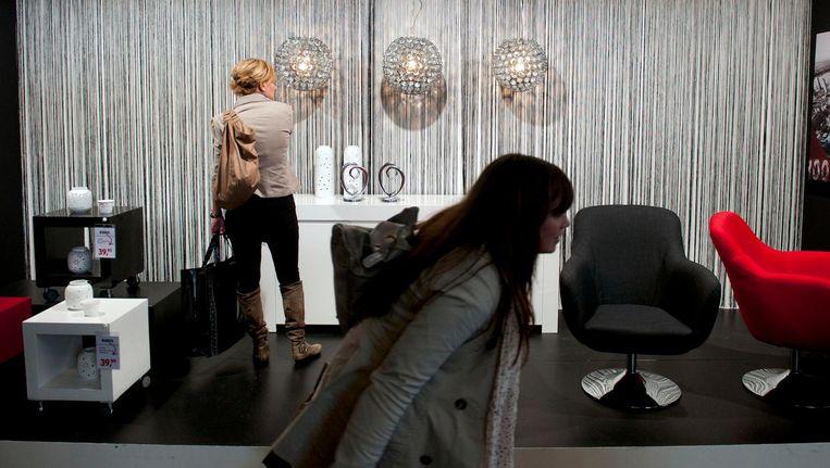 Bezoekers komen naar de beurs voor woonadviezen en om inspiratie op te doen voor een nieuw interieur Beeld anp