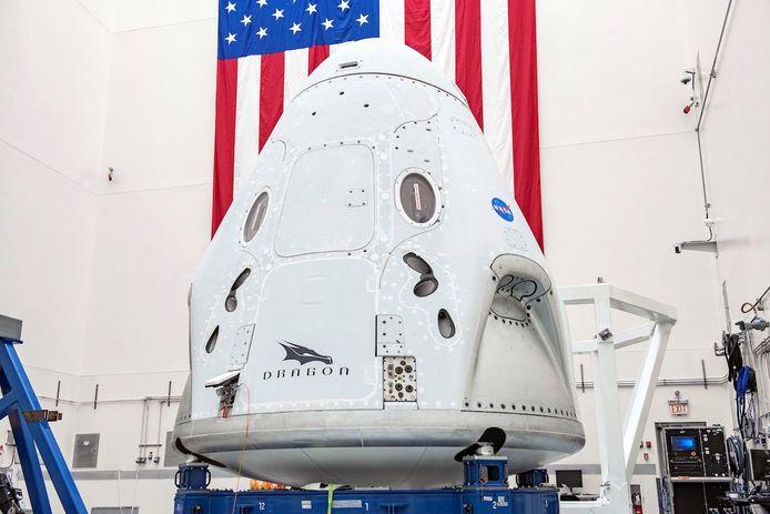 De Crew Dragon-capsule wordt komende woensdag - bemand - gelanceerd
