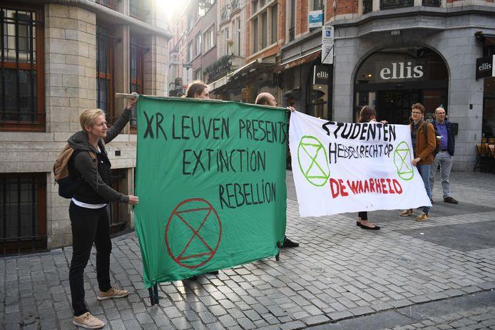 Ook Extinction Rebellion was van de partij om te protesteren.