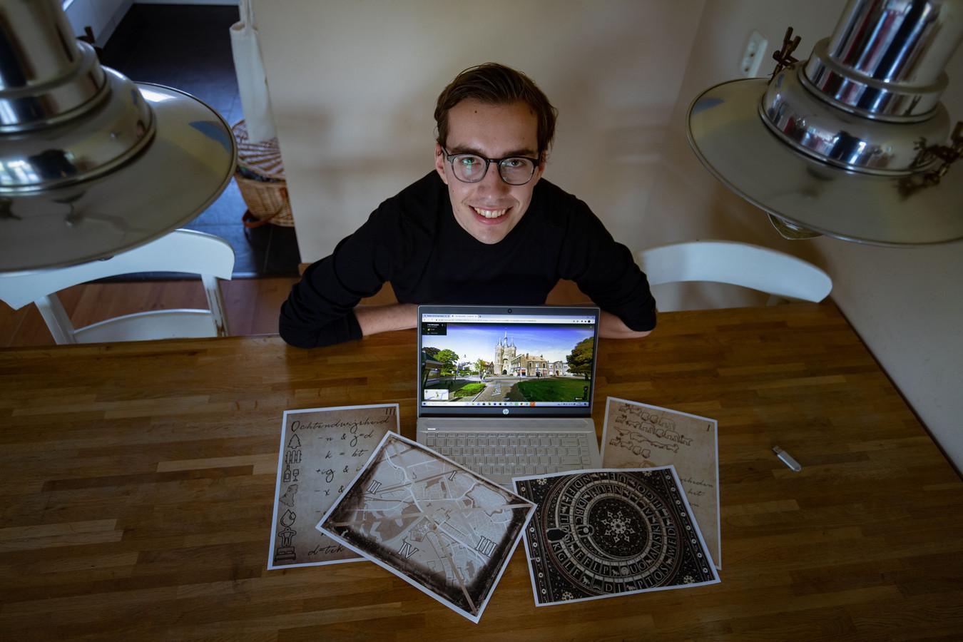 Jan-Willem de Jong maakte een digitale escaperoom.