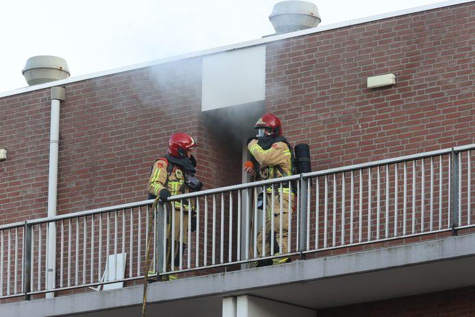 Brand in een flat in Eindhoven.